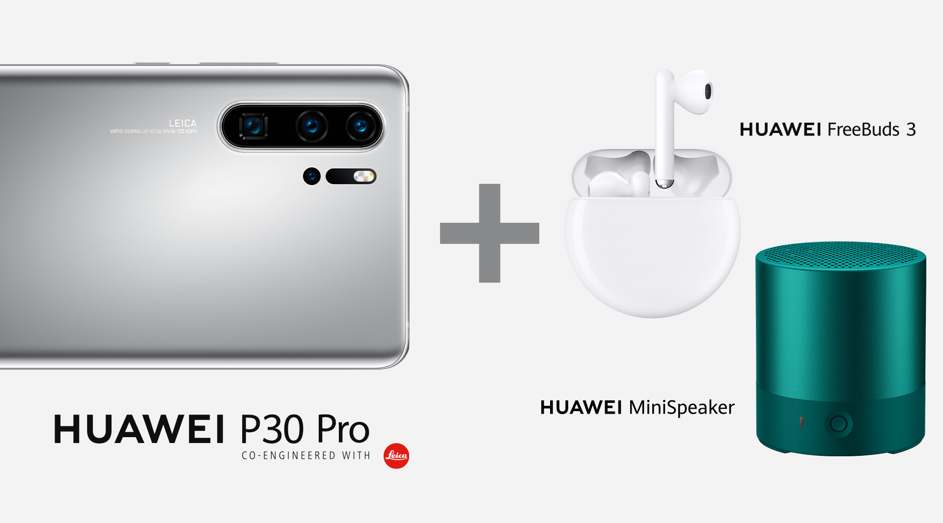 HUAWEI P30 Pro NEW EDITION mit FreeBuds 3 und Mini Speaker
