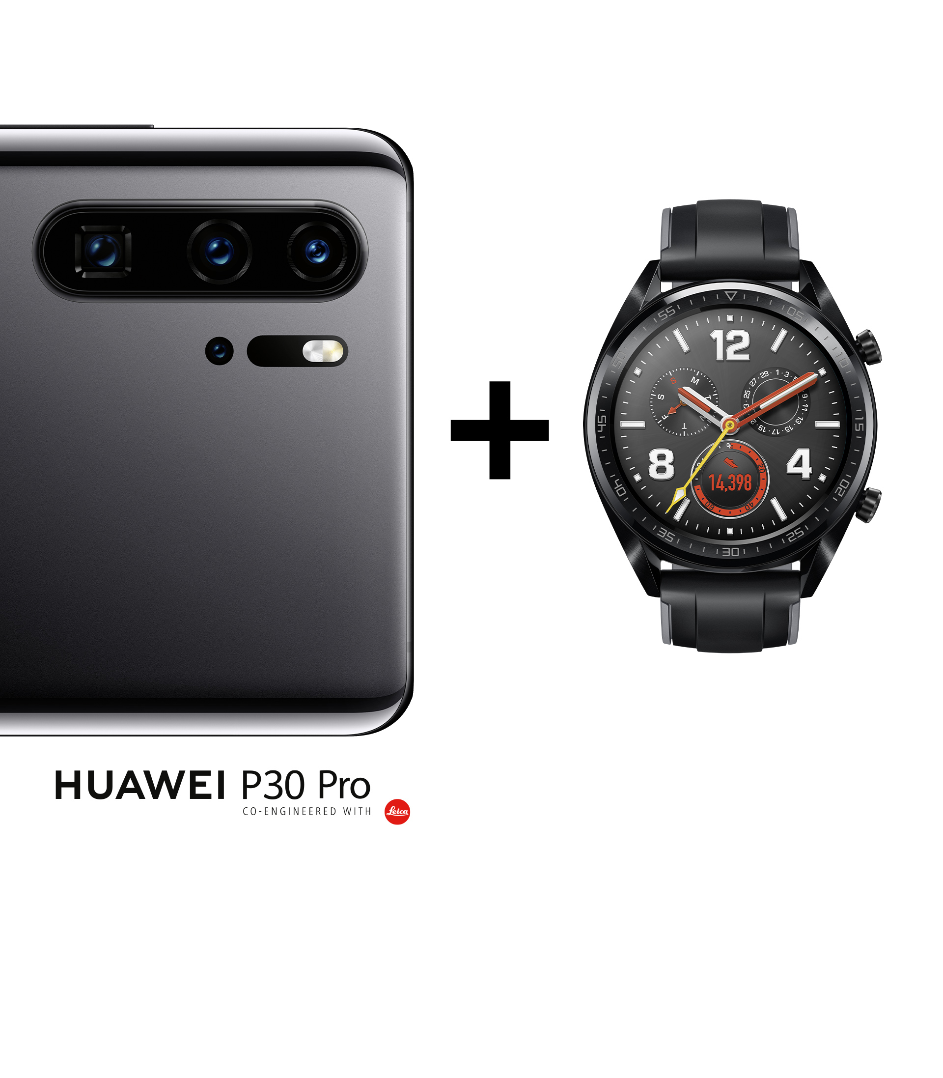 HUAWEI P30 Pro mit HUAWEI Watch GT in schwarz