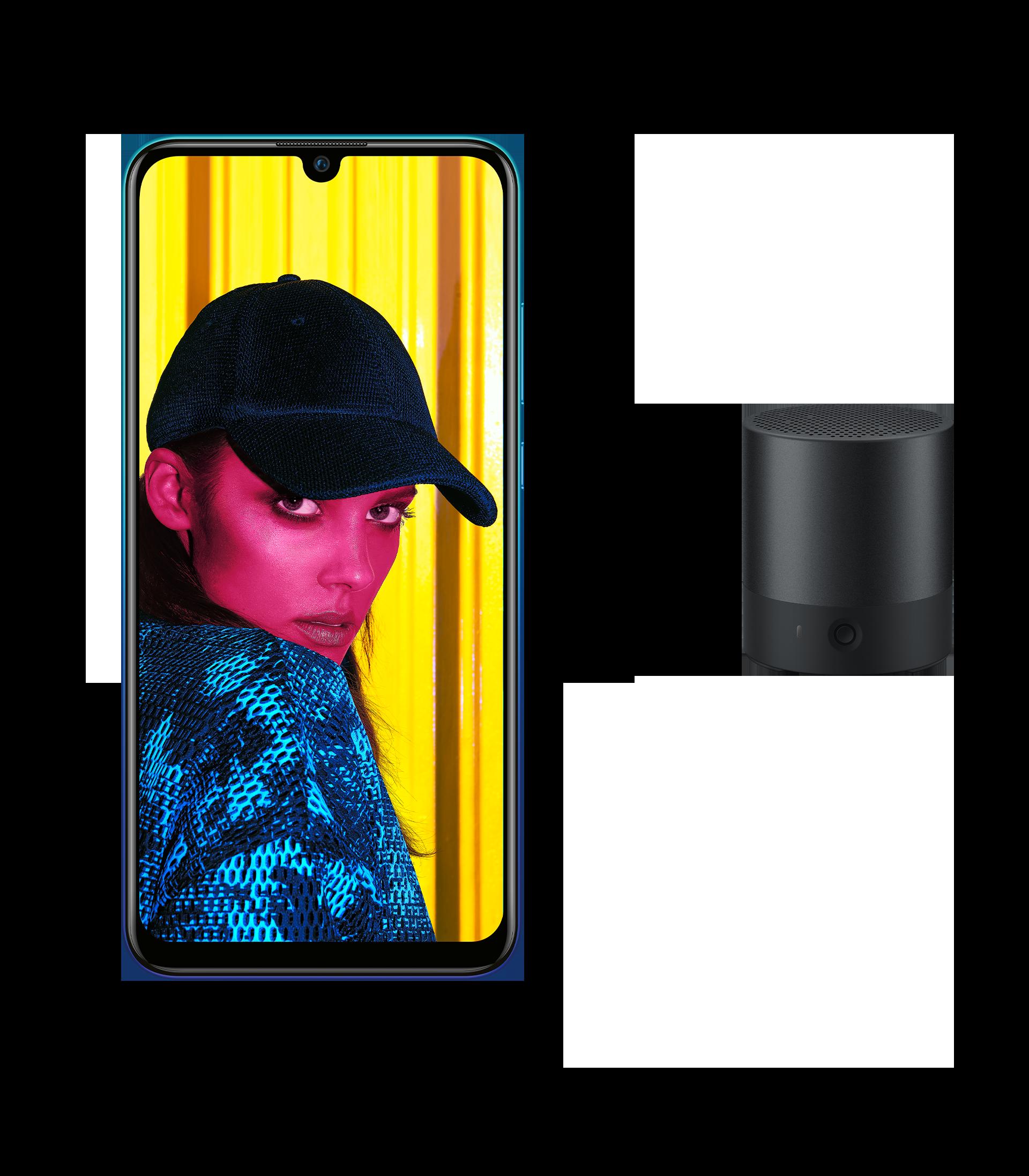HUAWEI P smart 2019 Smartphone in der HUAWEI Sommeraktion mit HUAWEI Mini Speaker Gratis-Lautsprecher, Handy Vorderseite