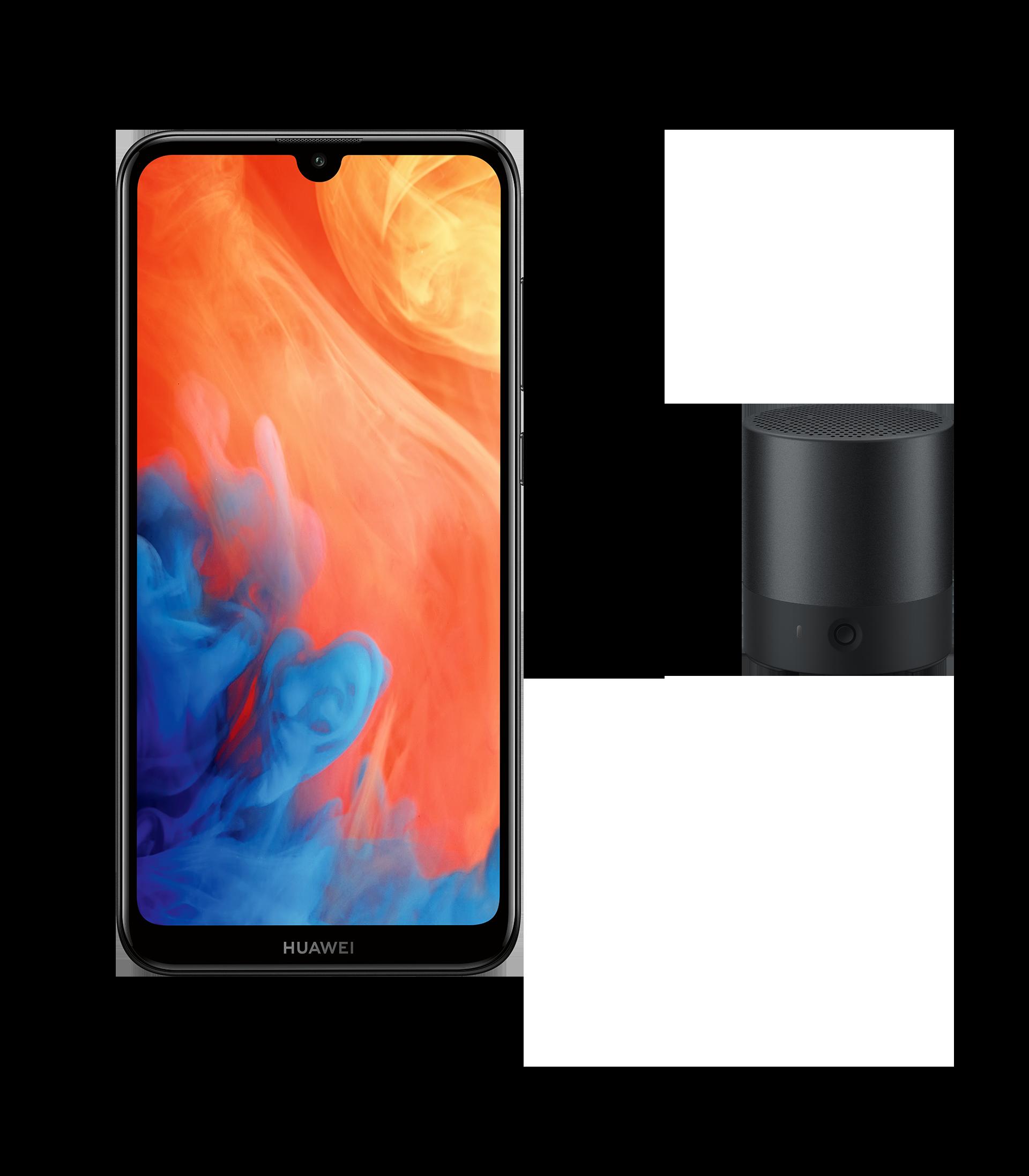 HUAWEI Y7 2019 Smartphone in der HUAWEI Sommeraktion mit HUAWEI Mini Speaker Gratis-Lautsprecher, Handy Vorderseite