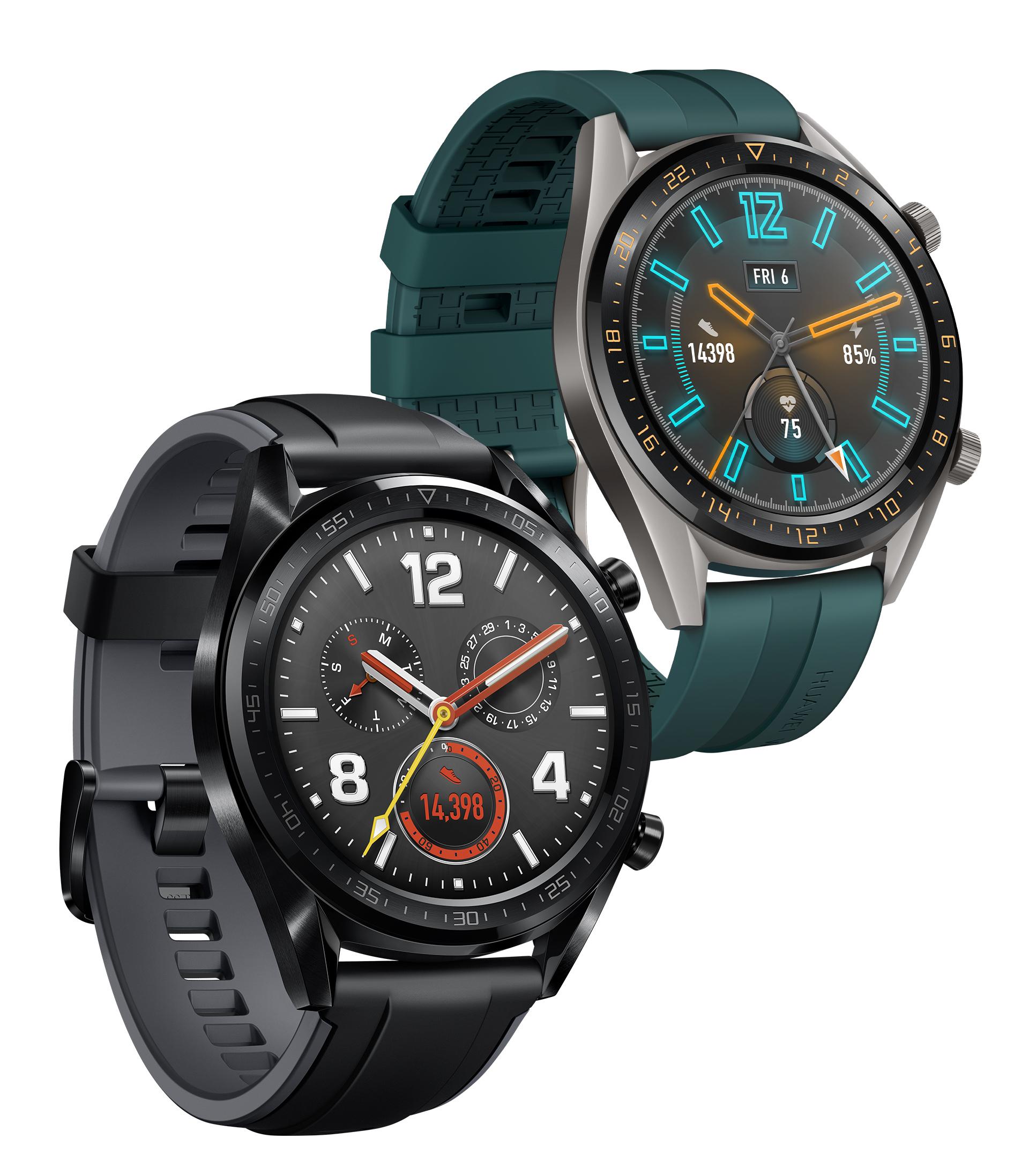 HUAWEI Watch GT in Schwarz und Grün
