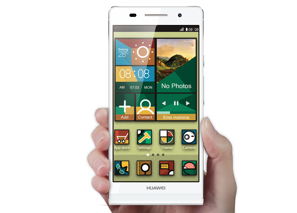 Actual colors of the phones may differ due to variation of monitor    Huawei Ascend P6 White
