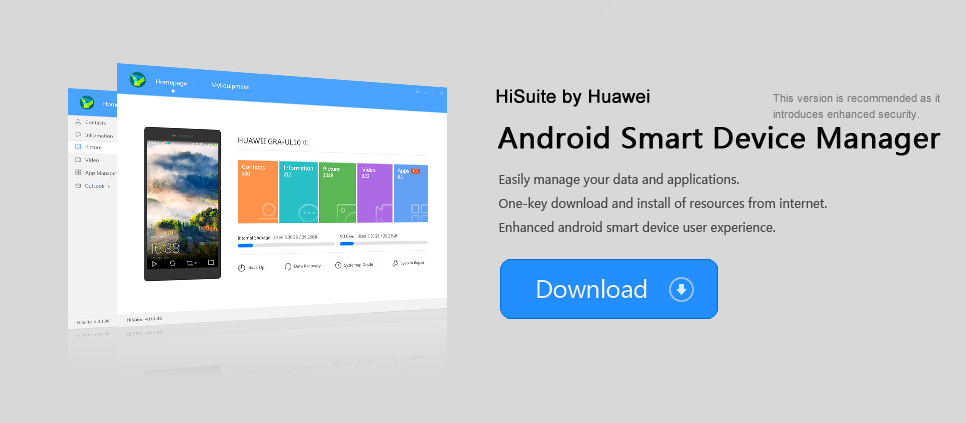 Huawei HiSuite Free Software download for your phone and iMAC PC laptop